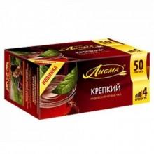 Чай Лисма  черный  Крепкий   50п